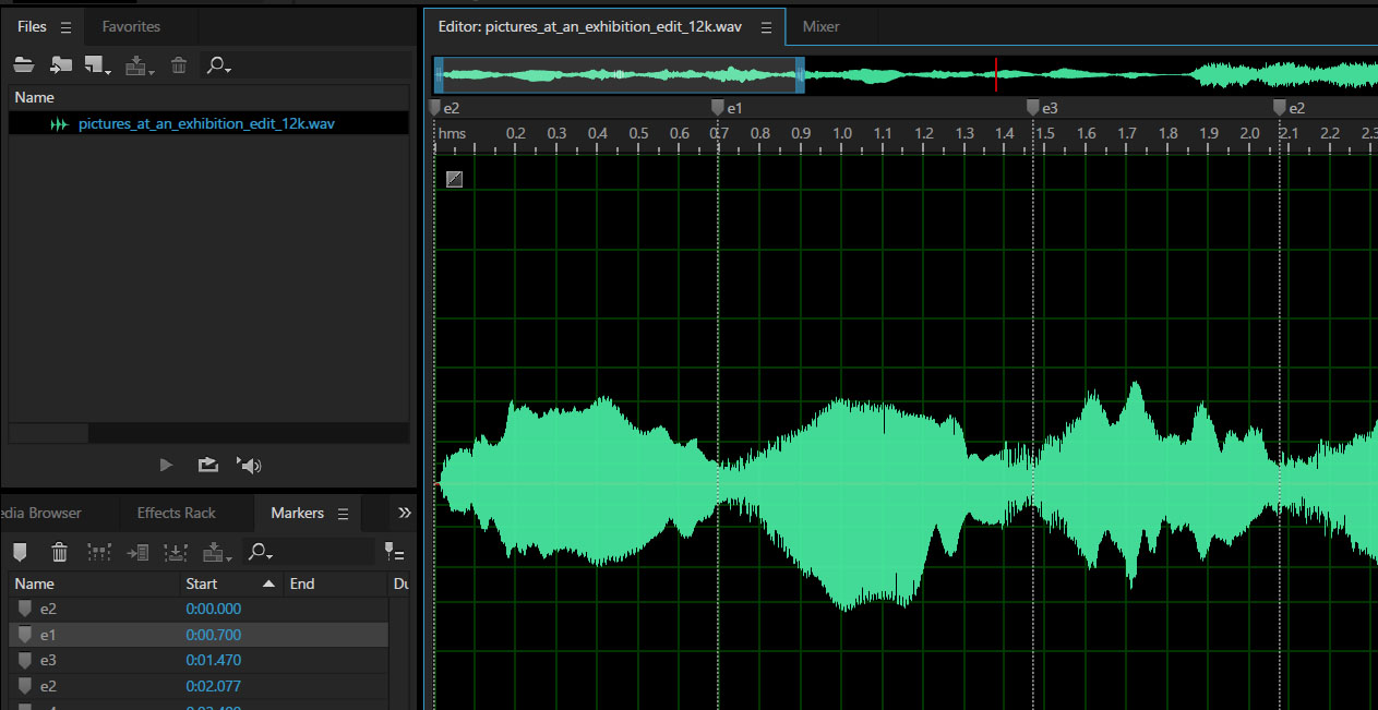 Event Markers in Audio File